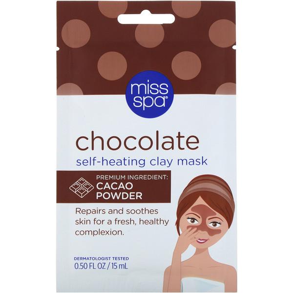 Miss Spa, Шоколадная разогревающая глиняная маска, 1 шт. (Discontinued Item)