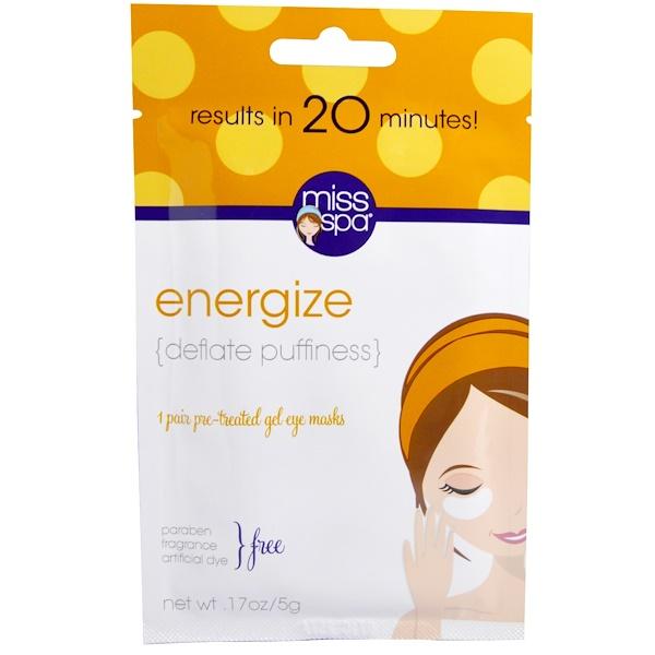 Miss Spa Pre-Treated Gel Eye Mask Energize