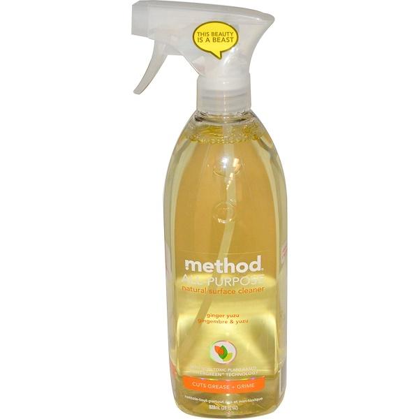 Method, Универсальное натуральное чистящее средство для поверхностей,  имбирь и юзу, 28 жидких унций (828 мл) (Discontinued Item)