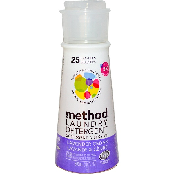 Method, Laundry Detergent, 25 Loads, Lavender Cedar, 10 fl oz (300 ml) (Discontinued Item)