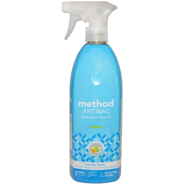 Method, Antibac, средство для чистки ванной, с запахом мяты, 828 мл (28 жидких унций) (Discontinued Item)