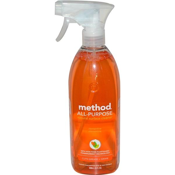 Method, Универсальная натуральное чистящее средство для поверхностей, климентин 28 жидких унции (828 мл) (Discontinued Item)