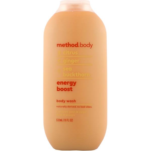 Method, Гель для душа, всплеск энергии, 18 ж. унц. (532 мл) (Discontinued Item)