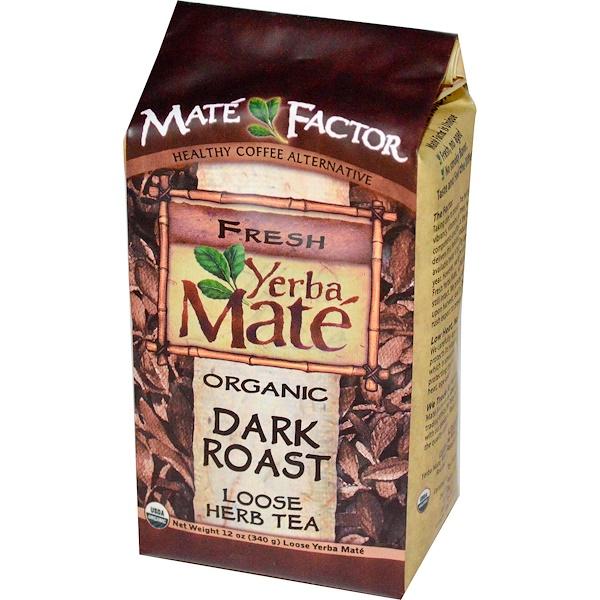Mate Factor, Органический чая Мате, глубокая обжарка, листовой травяной чай, 12 унций (340 г) (Discontinued Item)