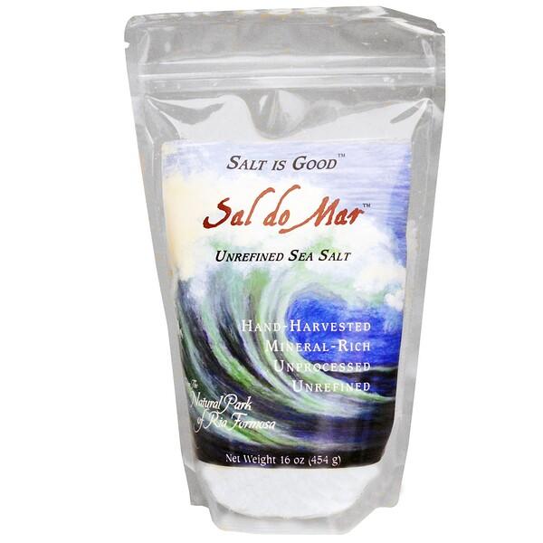 Mate Factor, Sal do Mar, нерафинированная морская соль, 16 унций (454 г)