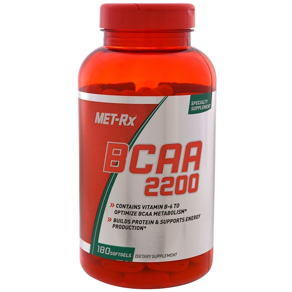 MET-Rx, BCAA 2200, 180 мягких таблеток (Discontinued Item)