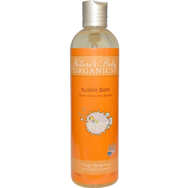 Nature's Baby Organics, Bubble Bath, Tangy Tangerine, 12 fl oz (354.9 ml) (Discontinued Item)