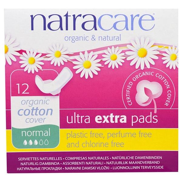 Органические и натуральные прокладки ультра экстра, нормальные, 12 прокладок