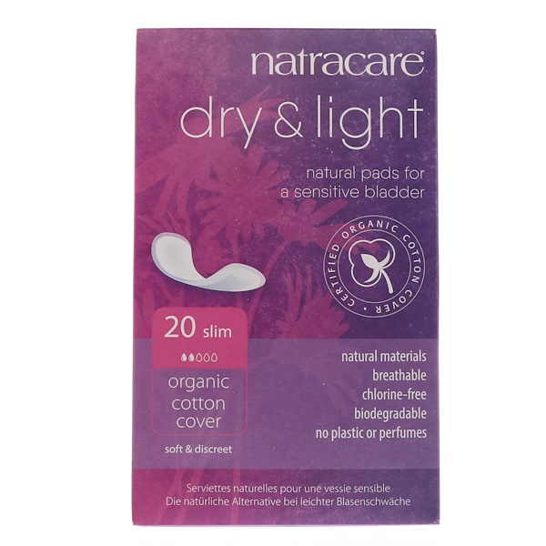 Dry & Light, покрытие из органического хлопка, Slim, 20 прокладок