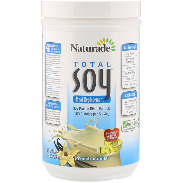 Naturade, Total Soy, Meal Replacement, French Vanilla, 17.88 oz (507 g)