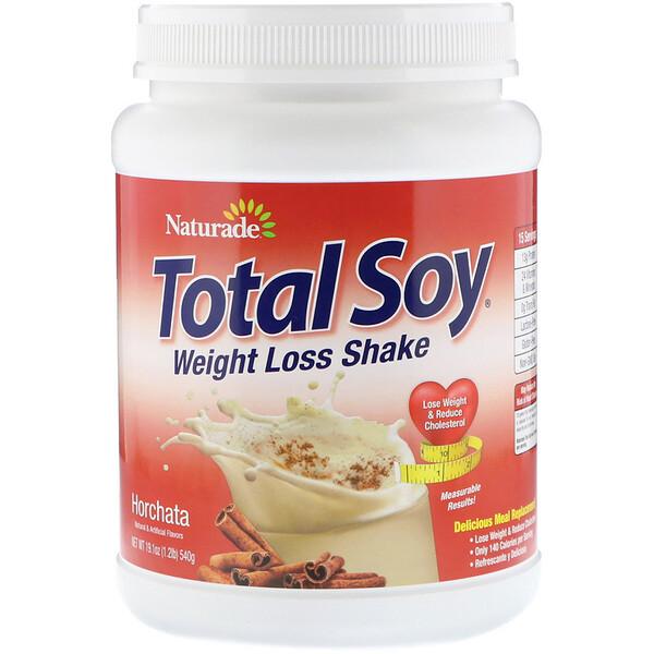Naturade, Total Soy, коктейль для похудения, орчата, 540г (1,2фута)