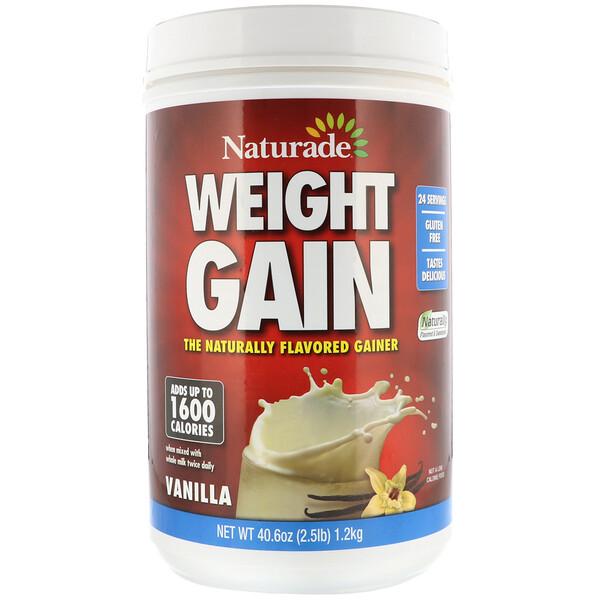 Средство для набора веса Weight Gain, со вкусом ванили, 40,6 унций (2,5 фунта)