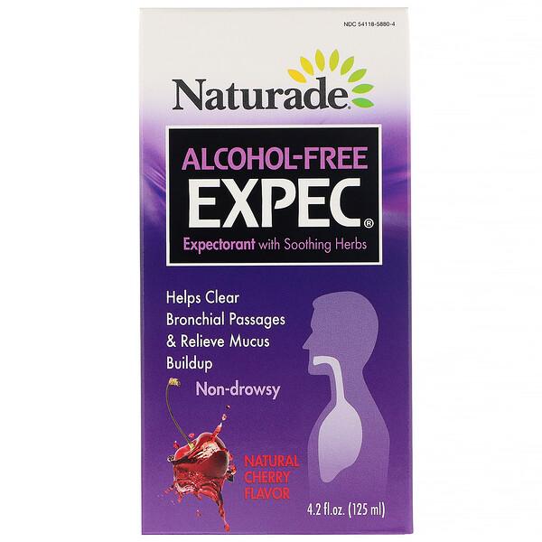 Naturade, EXPEC без спирта, отхаркивающее средство на травах, натуральный вишневый вкус, 125мл