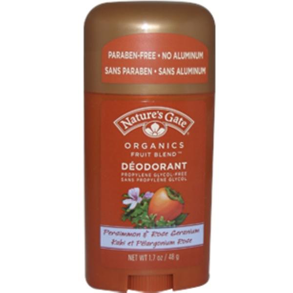 Nature's Gate, Organics Fruit Blend Deodorant, Persimmon & Rose Geranium, 1.7 oz (48 g) (Discontinued Item)