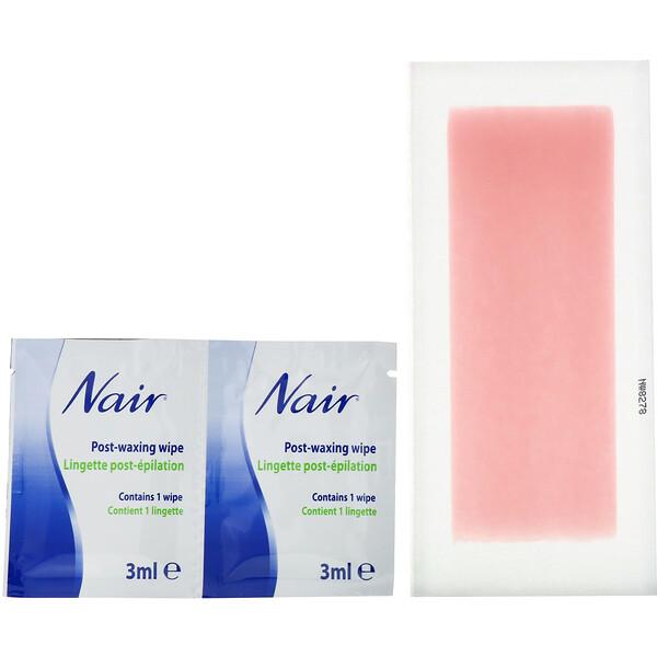 Средство для удаления волос, восковые полоски, для ног и тела, 40 восковых полосок + 6 салфеток