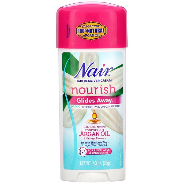 Hair Remover Cream, Glides Away, For Bikini, Arms & Underarms, 3.3 oz (93 g)