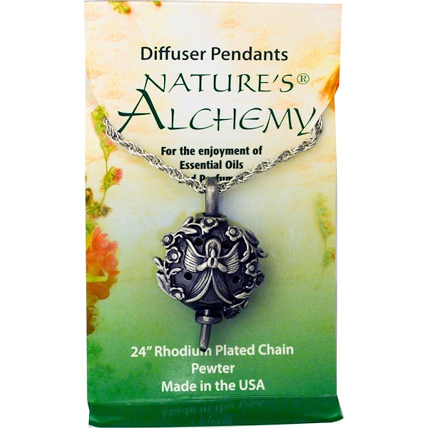Nature's Alchemy, Diffuser Pendants, Angel Necklace (Discontinued Item)