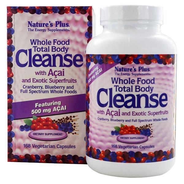 Nature's Plus, Цельнопищевое средство для очищения организма, с ягодами асаи и экзотическими суперфруктами, 168 растительных капсул (Discontinued Item)