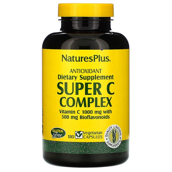 Суперкомлекс витаминов С, 180 растительных капсул