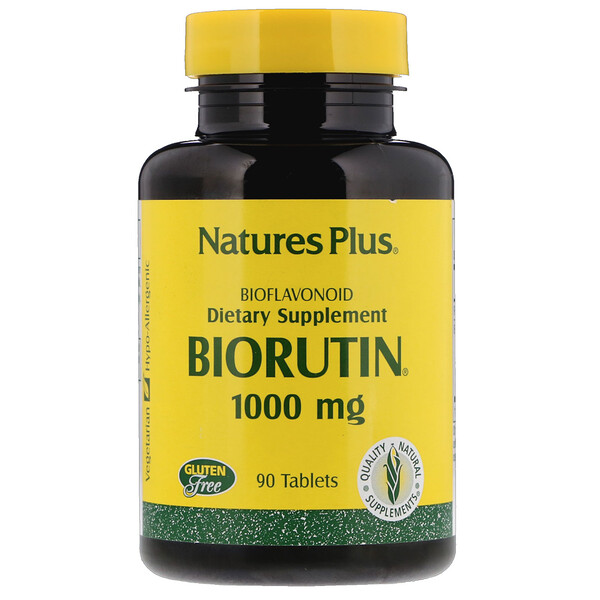 Nature's Plus, Biorutin, 1000 мг, 90 таблеток