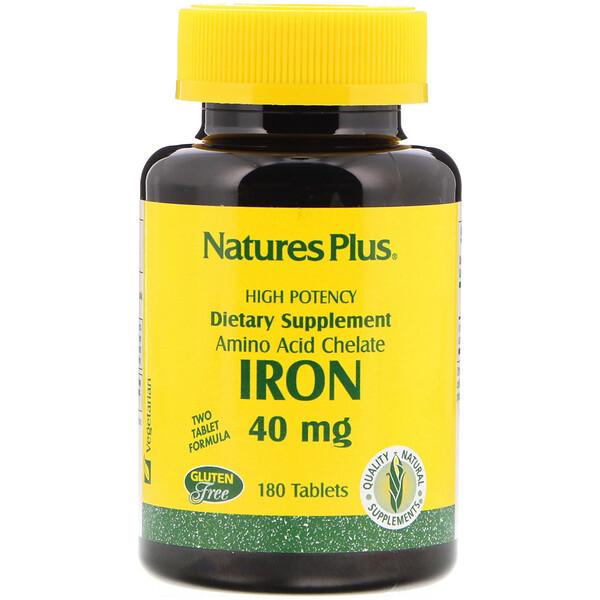Железо, 40 мг, 180 таблеток