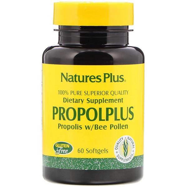 Propolplus, прополис с пчелиной пыльцой, 60 капсул