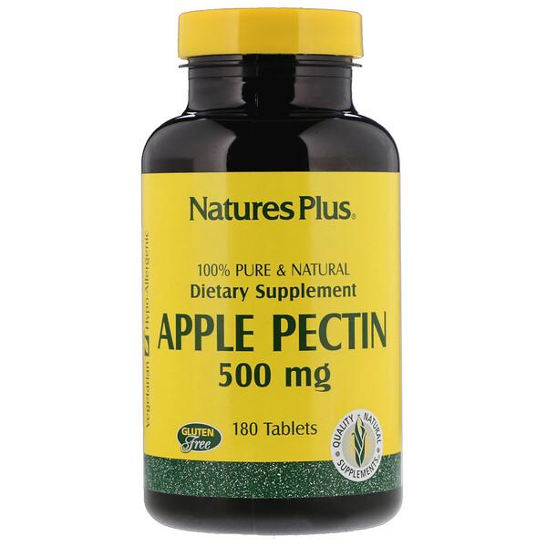 Nature's Plus, Яблочный пектин, 500 мг, 180 таблеток