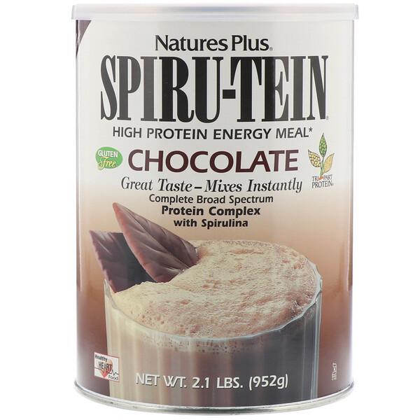 Spiru-Tein, энергетическая еда с высоким содержанием белка, шоколадный вкус, 2.1 фунтов (952 г)
