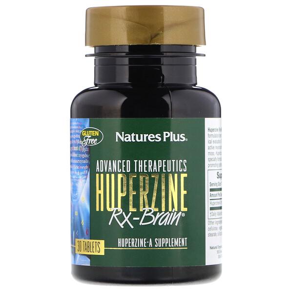 Nature's Plus, Advanced Therapeutics, Гуперзин-А для Работы Мозга, 30 таблеток (Discontinued Item)