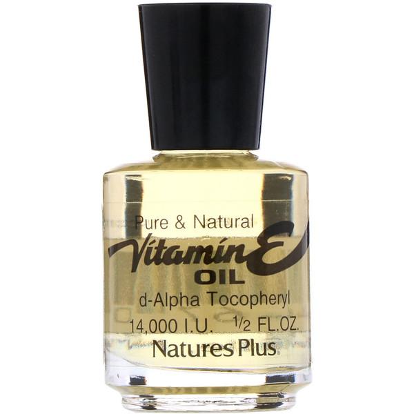 Масло с витамином Е, 14,000 IU, 1/2 жидких унций