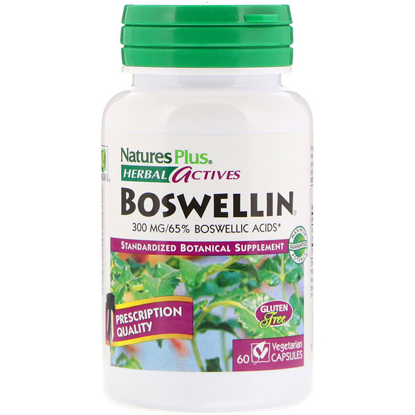 Nature's Plus, Herbal Actives, Boswellin, 300 mg, 60 Vegetarian Capsules (Discontinued Item)