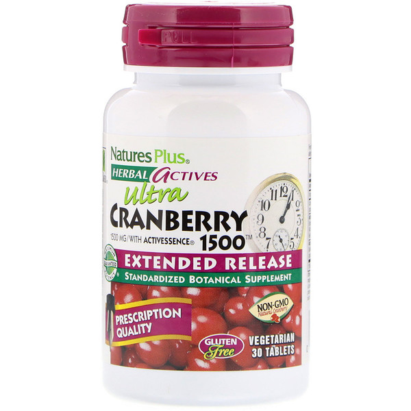 Herbal Actives, Ultra Cranberry 1500, 1,500 mcg, 30 Vegetarian Tablets