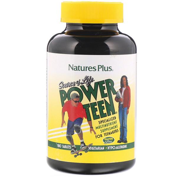 Nature's Plus, Source of Life, сильный подросток, 180 таблеток