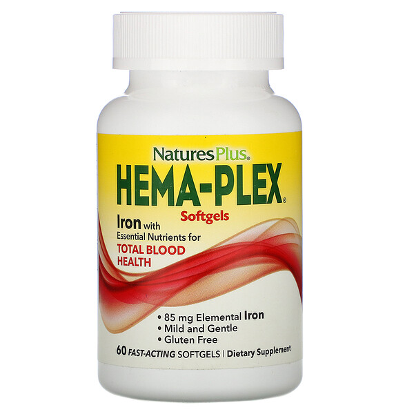 Hema-Plex, Iron, 60 Fast-Acting Softgels
