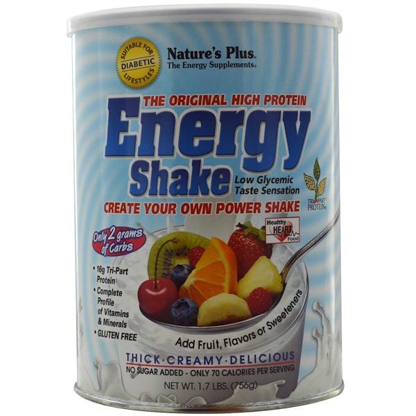 Nature's Plus, Оригинальная смесь для энергетического коктейля с высоким содержанием белка, 1.7 кг. (756 г) (Discontinued Item)
