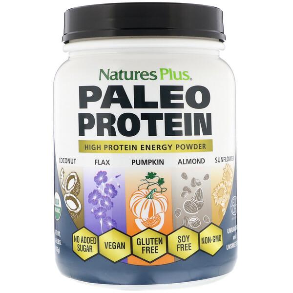 Paleo Protein Powder, палеопротеиновый порошок, без ароматизаторов и подсластителей, 675г (1,49фунта)
