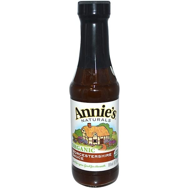 Annie's Naturals, Органический, Вустерширский соус, 6.25 жидких унций (185 мл)