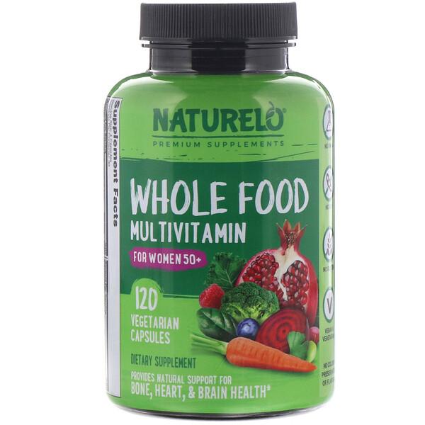 Мультивитамины из цельных продуктов для женщин старше 50лет, 120растительных капсул