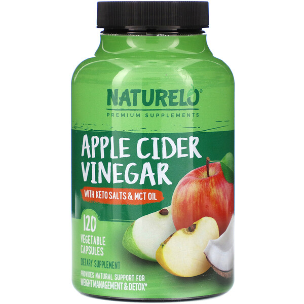 Apple Cider Vinegar with Keto Salts & MCT Oil, 120 Vegetable Capsules