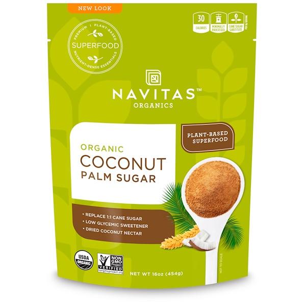 Navitas Organics, Органический сахар из кокосовой пальмы, 454 г (16 унций)