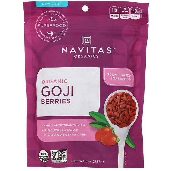 Navitas Organics, Органические ягоды годжи, 227 г (8 унций)