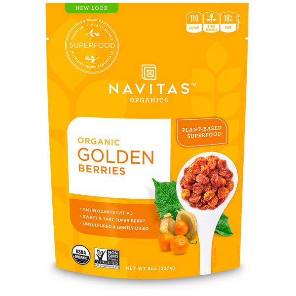 Navitas Organics, Органический сушеный физалис, 227 г (8 унций)