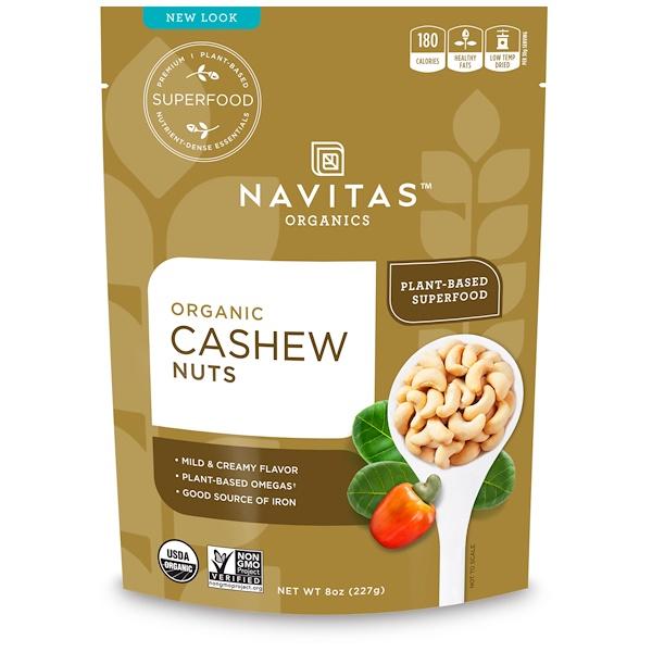 Navitas Organics, Органические орехи кешью, 227 г (8 унций)
