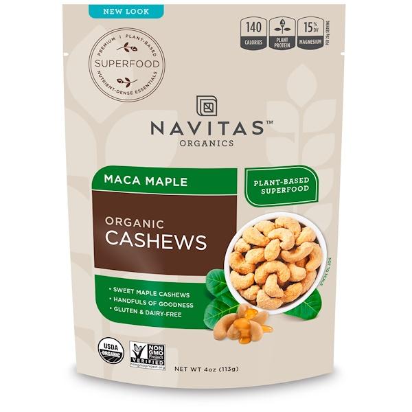Navitas Organics, Органический кешью, мака и клен, 113 г