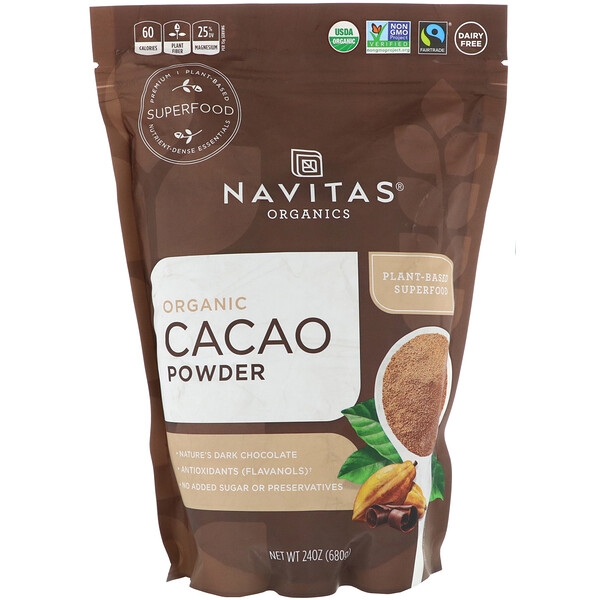 Organic Cacao Powder, 24 oz (680 g)