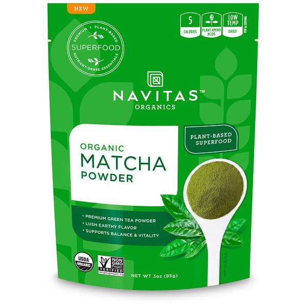 Navitas Organics, Органический порошок матча, 85 г