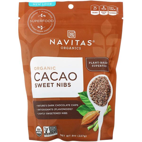 Organic Cacao Sweet Nibs, 8 oz (227 g)
