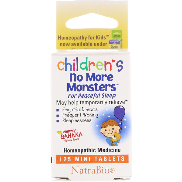 Children's No More Monsters, Yummy Banana Natural Flavor, 125 Mini Tablets
