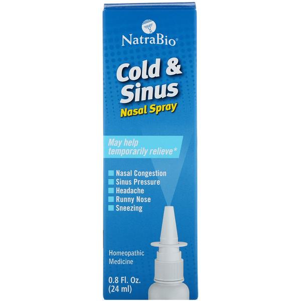 Простуда и синусит, назальный спрей 0.8 жидких унции (24 мл)