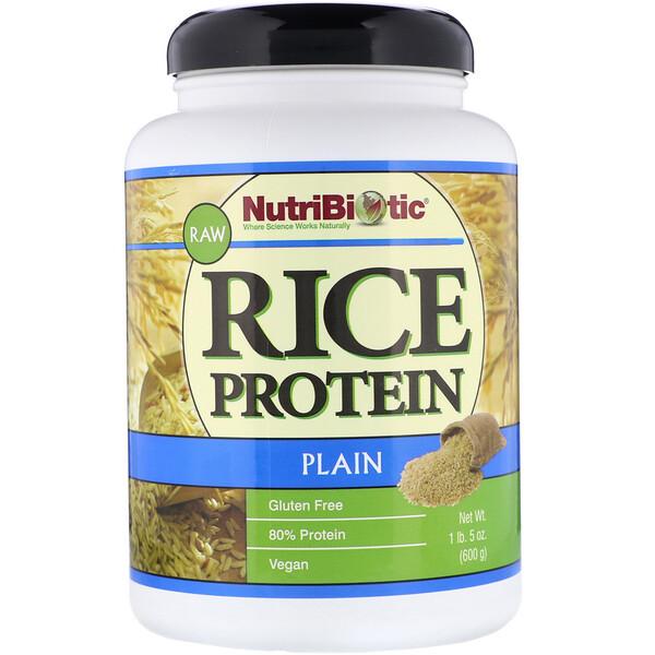 Сырой простой рисовый белок, 1 фунт 5 унций (600 г)